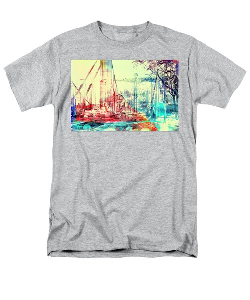 Men's T-Shirt  (Regular Fit) featuring the photograph Bridge And Grain Belt Beer Sign by Susan Stone