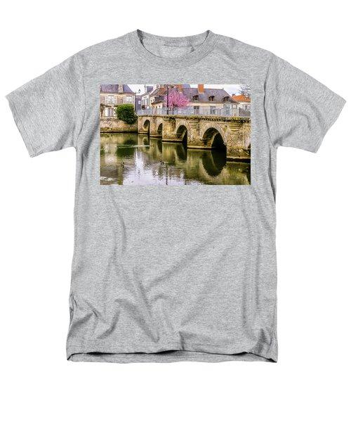 Bridge In The Loir Valley, France Men's T-Shirt  (Regular Fit) by Menachem Ganon