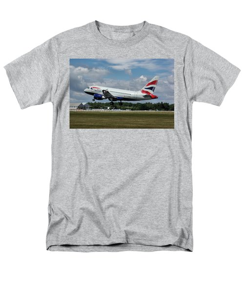 Men's T-Shirt  (Regular Fit) featuring the photograph British Airways Airbus A318-112 G-eunb by Tim Beach