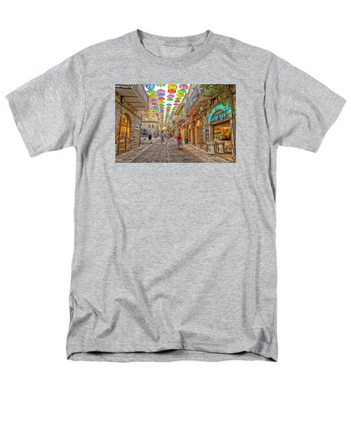 Men's T-Shirt  (Regular Fit) featuring the photograph Brollies Over Jerusalem by Uri Baruch
