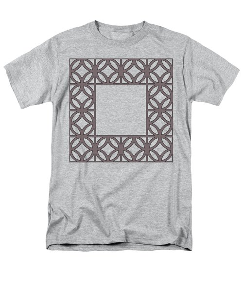 Men's T-Shirt  (Regular Fit) featuring the digital art Brown Circles And Squares by Chuck Staley