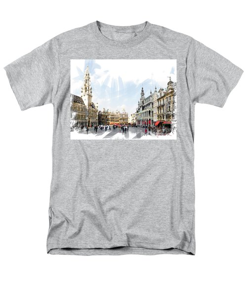Men's T-Shirt  (Regular Fit) featuring the photograph Brussels Grote Markt  by Tom Cameron