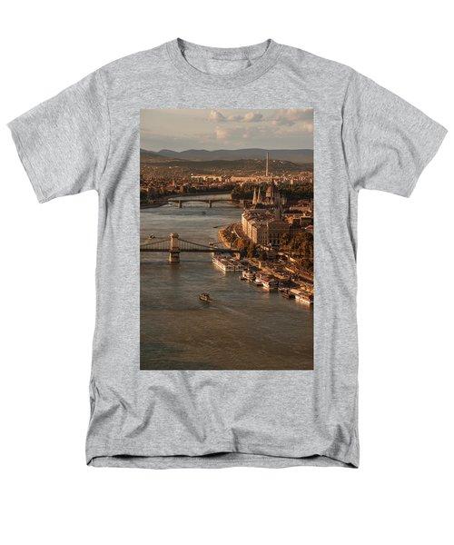 Budapest In The Morning Sun Men's T-Shirt  (Regular Fit) by Jaroslaw Blaminsky