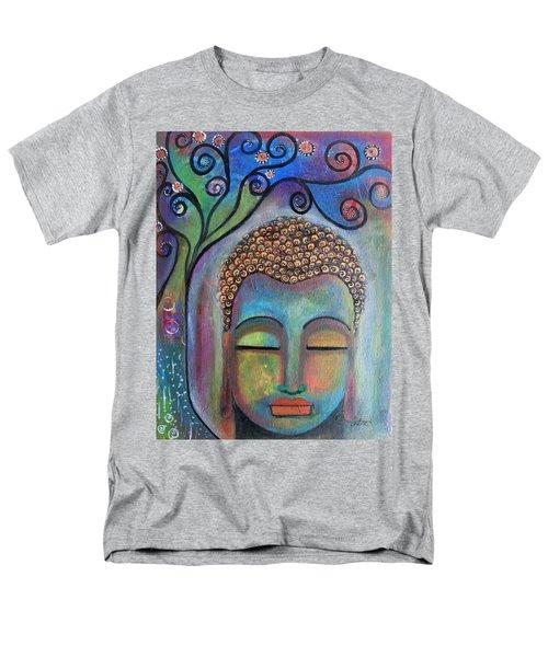 Buddha With Tree Of Life Men's T-Shirt  (Regular Fit) by Prerna Poojara