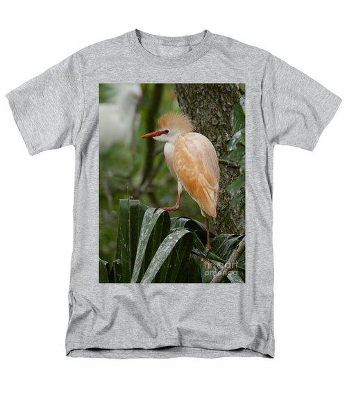 Buffy - The Cattle Egret Men's T-Shirt  (Regular Fit) by Myrna Bradshaw