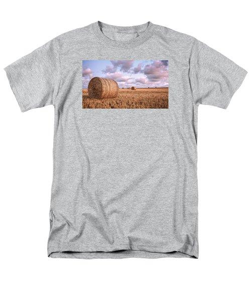 Bundy Hay Bales #1 Men's T-Shirt  (Regular Fit) by Brad Grove