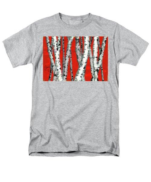 Burch On Red Men's T-Shirt  (Regular Fit)