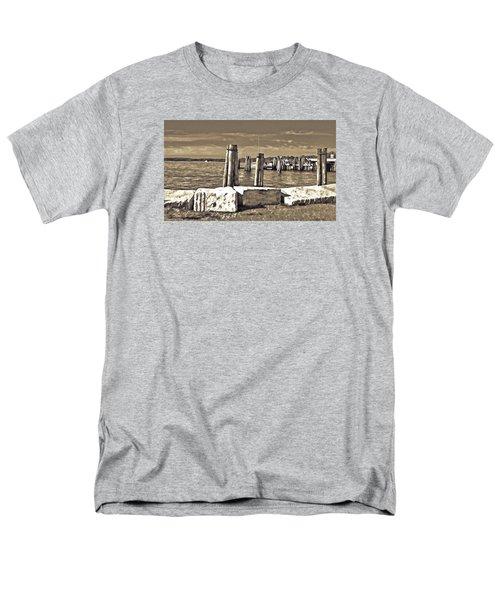 Burlington Pier Men's T-Shirt  (Regular Fit) by Rena Trepanier