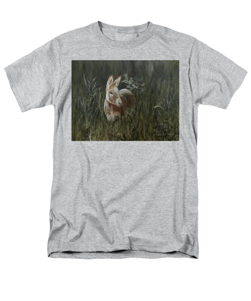 Men's T-Shirt  (Regular Fit) featuring the painting Burro In The Wild by Roseann Gilmore