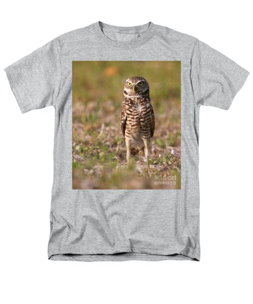 Men's T-Shirt  (Regular Fit) featuring the photograph Burrowing Owl Standing Tall by Myrna Bradshaw