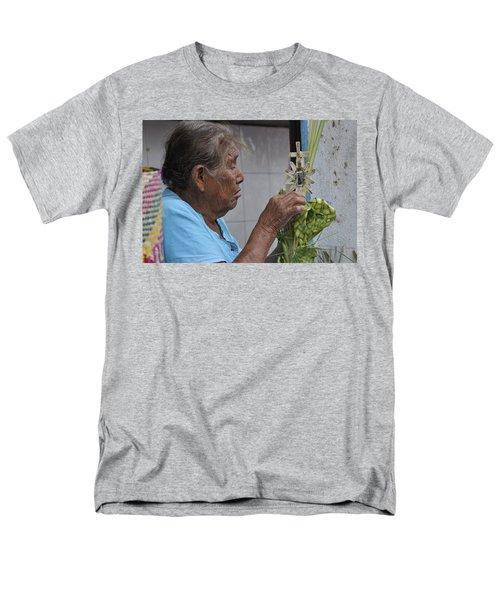 Men's T-Shirt  (Regular Fit) featuring the photograph Busy Hands by Jim Walls PhotoArtist
