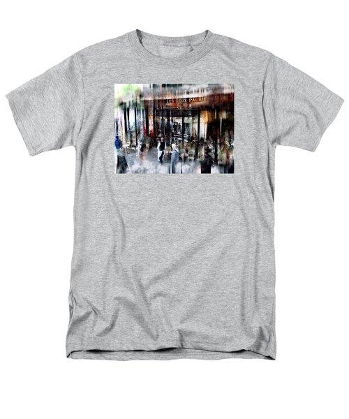 Busy Sidewalk Men's T-Shirt  (Regular Fit) by John Rivera