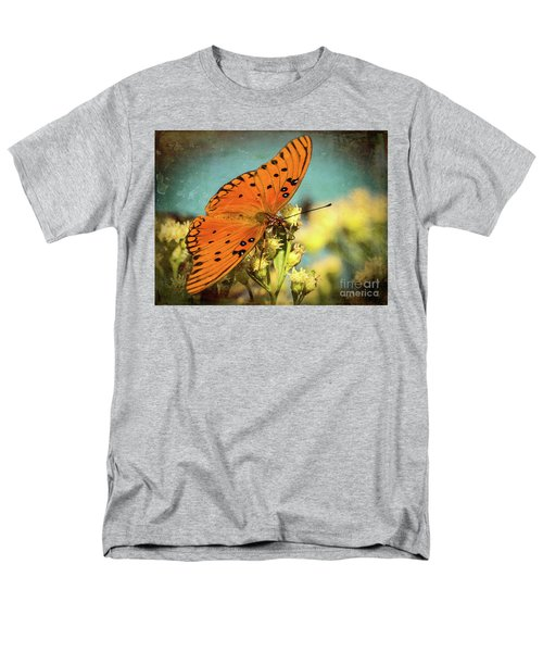 Butterfly Enjoying The Nectar Men's T-Shirt  (Regular Fit) by Scott and Dixie Wiley