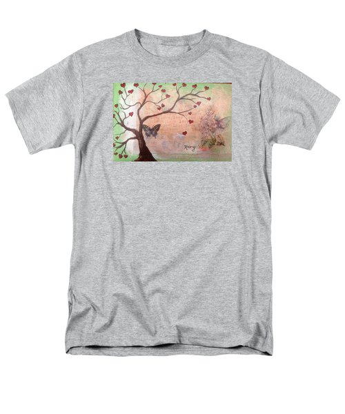 Butterfly Fairy Heart Tree Men's T-Shirt  (Regular Fit) by Roxy Rich