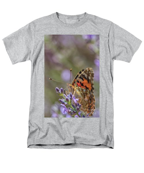 Men's T-Shirt  (Regular Fit) featuring the photograph Butterfly In Close Up by Patricia Hofmeester