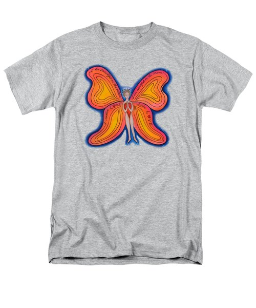 Men's T-Shirt  (Regular Fit) featuring the painting Butterfly Mantra by Deborha Kerr