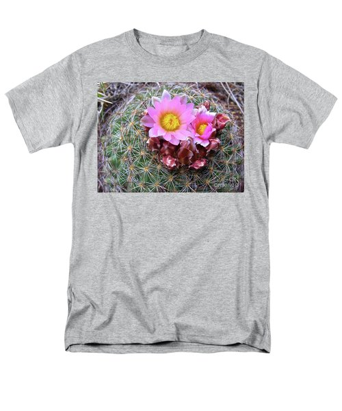 Cactus Flower  Men's T-Shirt  (Regular Fit) by Alan Johnson