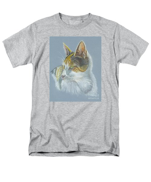 Men's T-Shirt  (Regular Fit) featuring the drawing Calico Callie by Carol Wisniewski