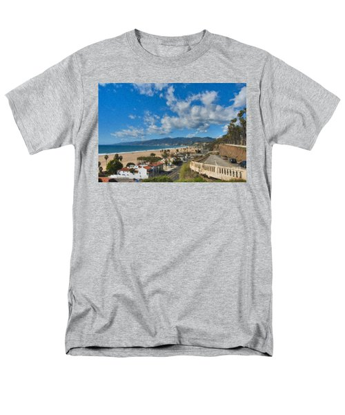 Men's T-Shirt  (Regular Fit) featuring the photograph California Incline Palisades Park Ca by David Zanzinger