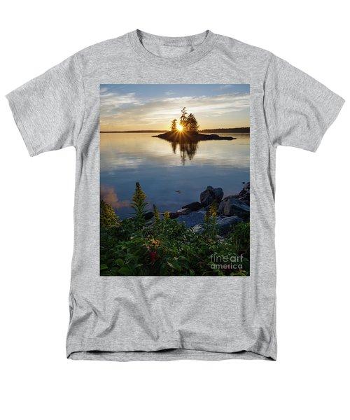 Men's T-Shirt  (Regular Fit) featuring the photograph Calm Water At Sunset, Harpswell, Maine -99056-99058 by John Bald