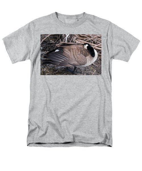 Men's T-Shirt  (Regular Fit) featuring the photograph Canada Goose Asleep by Edward Peterson