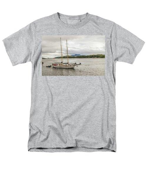 Men's T-Shirt  (Regular Fit) featuring the photograph Canadian Sailing Schooner by Timothy Latta