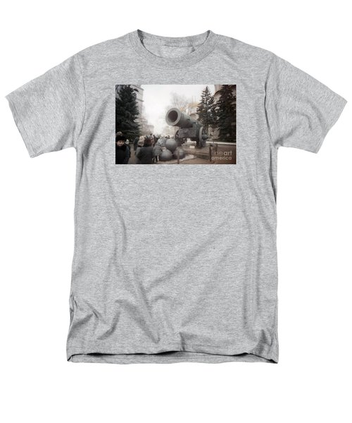 cannon in Moscow Men's T-Shirt  (Regular Fit) by Ted Pollard