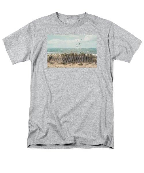 Cape Cod Beach Scene Men's T-Shirt  (Regular Fit) by Juli Scalzi