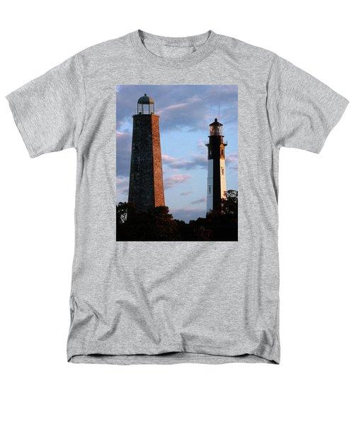 Cape Henry Lighthouses In Virginia Men's T-Shirt  (Regular Fit) by Skip Willits