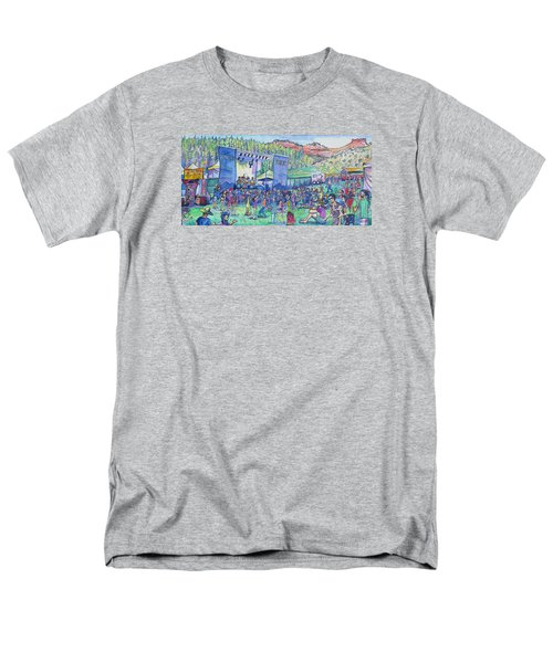 Caribou Mountain Collective At Yarmonygrass Men's T-Shirt  (Regular Fit) by David Sockrider