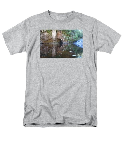 Men's T-Shirt  (Regular Fit) featuring the photograph Carlson Creek Falls by Sandra Updyke
