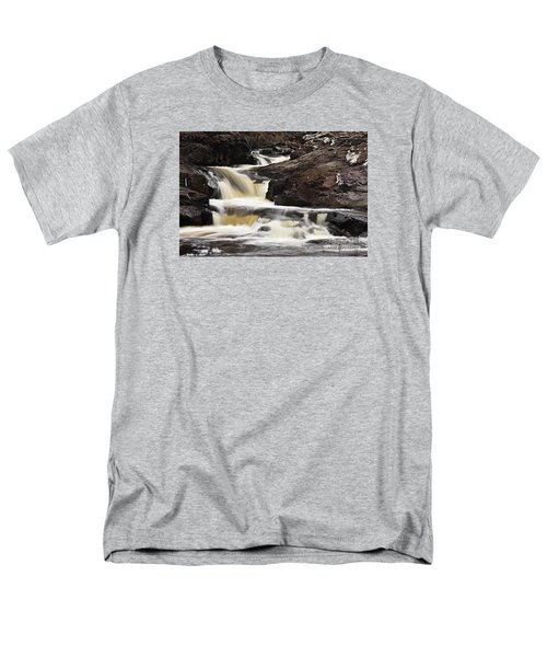 Men's T-Shirt  (Regular Fit) featuring the photograph Cascade On The Two Island River by Larry Ricker