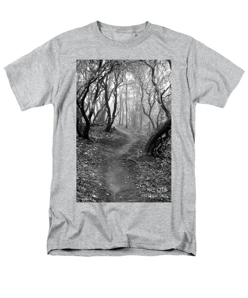 Cathedral Hills Serenity In Black And White Men's T-Shirt  (Regular Fit)