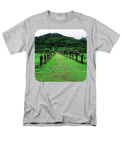 Causeway To Wat Phou Men's T-Shirt  (Regular Fit)