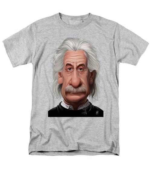 Celebrity Sunday - Albert Einstein Men's T-Shirt  (Regular Fit) by Rob Snow