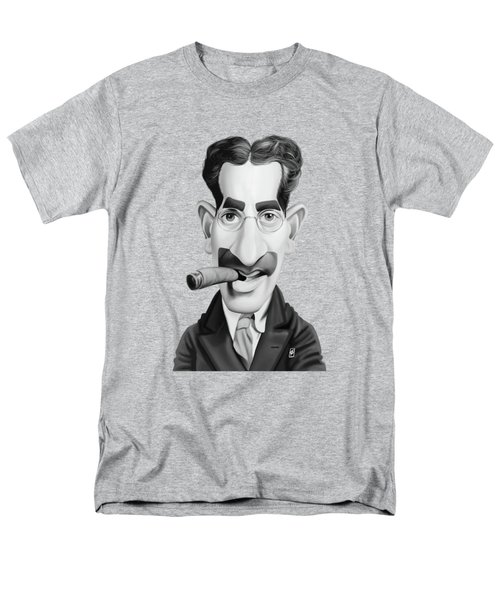 Celebrity Sunday - Groucho Marx Men's T-Shirt  (Regular Fit) by Rob Snow