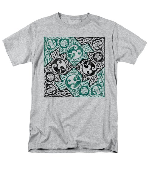 Men's T-Shirt  (Regular Fit) featuring the photograph Celtic Puzzle Square by Kristen Fox