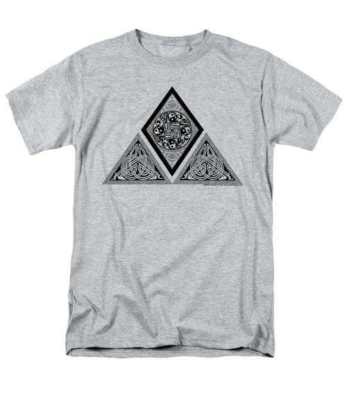 Men's T-Shirt  (Regular Fit) featuring the mixed media Celtic Pyramid by Kristen Fox