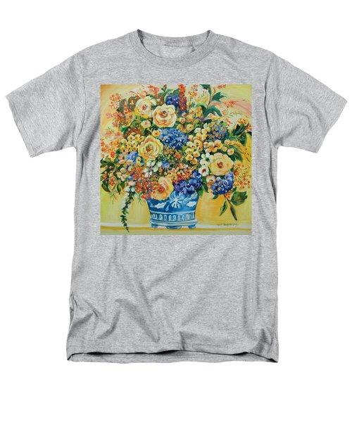 Ceramic Blue Men's T-Shirt  (Regular Fit) by Alexandra Maria Ethlyn Cheshire