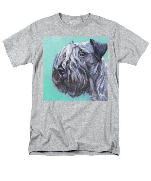 Men's T-Shirt  (Regular Fit) featuring the painting Cesky Terrier by Lee Ann Shepard