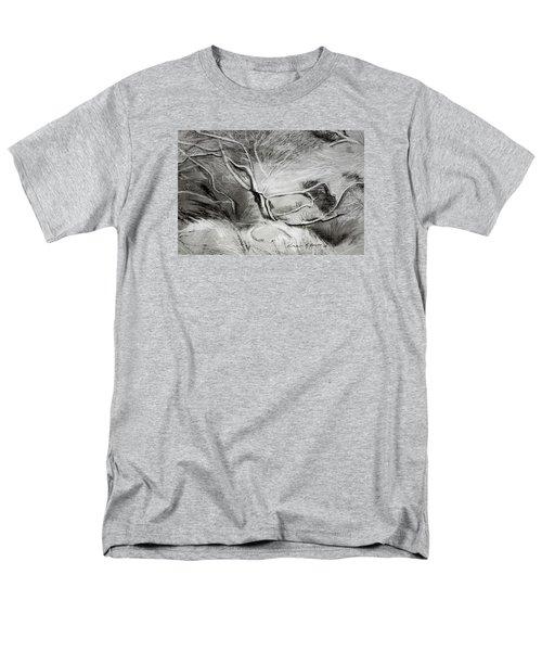 Charcoal Tree Men's T-Shirt  (Regular Fit)