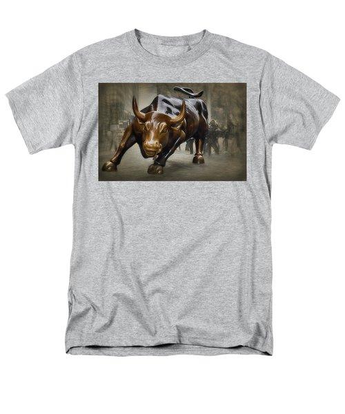 Charging Bull Men's T-Shirt  (Regular Fit) by Dyle Warren