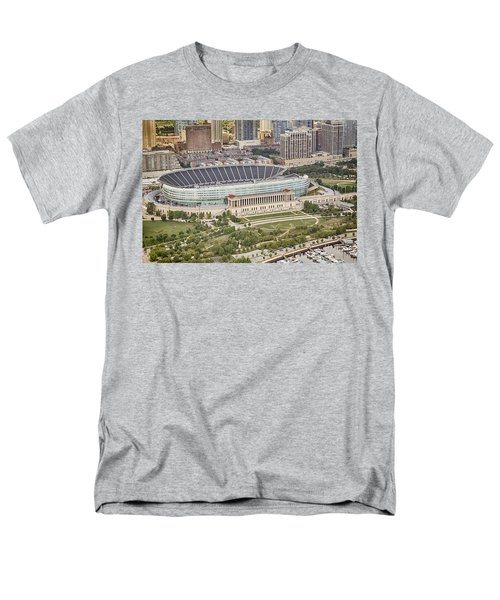Chicago's Soldier Field Aerial Men's T-Shirt  (Regular Fit) by Adam Romanowicz