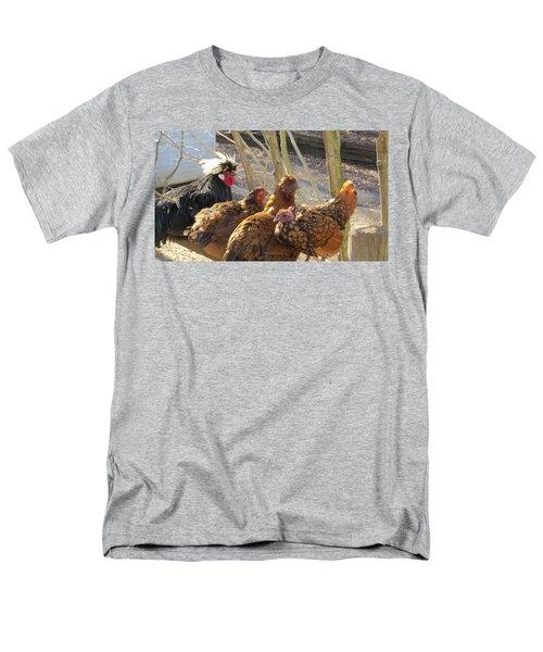 Chicken Protest Men's T-Shirt  (Regular Fit) by Jeanette Oberholtzer