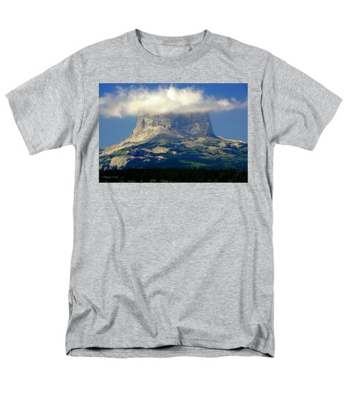 Chief Mountain, With Its Head In The Clouds Men's T-Shirt  (Regular Fit)