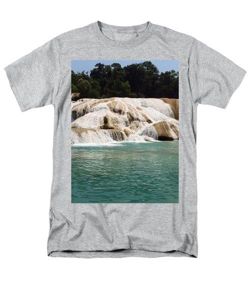 Chilon Waterfall. Men's T-Shirt  (Regular Fit) by Shlomo Zangilevitch