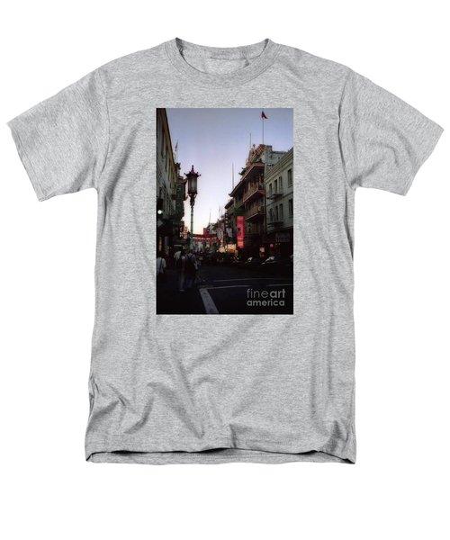 China Town San Francisco  Men's T-Shirt  (Regular Fit) by Ted Pollard