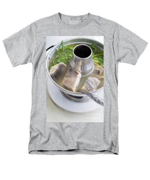 Men's T-Shirt  (Regular Fit) featuring the photograph Chinese Silver Pomfret Soup by Atiketta Sangasaeng