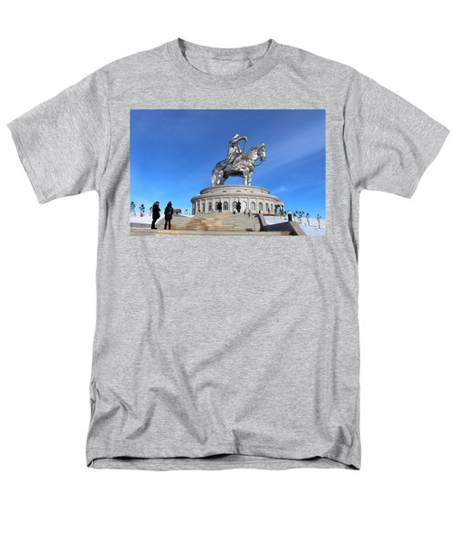 Chinggis Khan Statue/tsagaan Sar Men's T-Shirt  (Regular Fit) by Diane Height