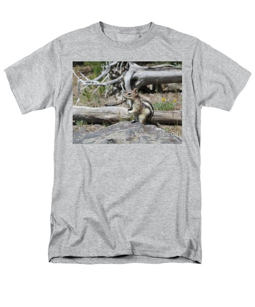 Chipmunk At Yellowstone Men's T-Shirt  (Regular Fit) by Ausra Huntington nee Paulauskaite